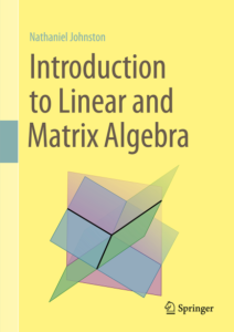 Introduction to Linear and Matrix Algebra cover